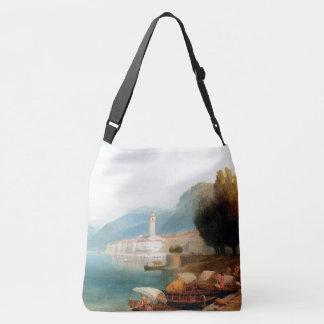 Bolsa Ajustável Sacola da igreja dos barcos de Como Italia do lago