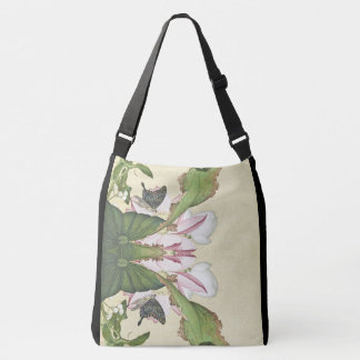 Bolsa Ajustável Sacola de Waterlily da borboleta da flor de Lotus