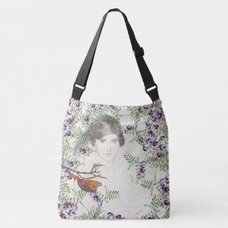 Bolsa Ajustável Sacola do ombro das flores da senhora borboleta