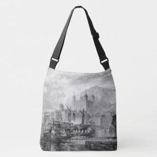 Bolsa Ajustável Sacola do ombro de Thames River dos barcos de