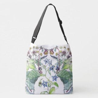Bolsa Ajustável Sacola floral do Wildflower selvagem do Borage de