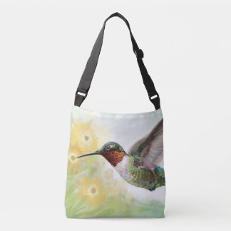 Bolsa Ajustável sacola Rubi-throated do colibri