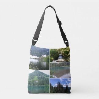 Bolsa Ajustável Sacola transversal do corpo das imagens do lago