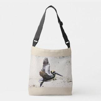 Bolsa Ajustável Sacola transversal impressa pelicano do corpo