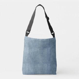 Bolsa Ajustável Sarja de Nimes azul Jean toda sobre - imprima o