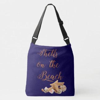 Bolsa Ajustável Seashells da estrela do mar nas férias tropicais