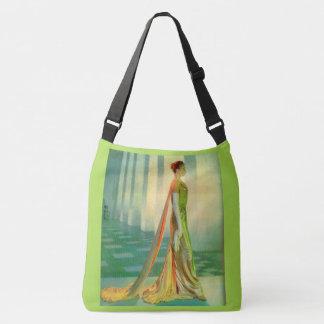 Bolsa Ajustável senhora bonita dos anos 60 no vestido de noite