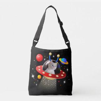 Bolsa Ajustável Seu gato em uma cena estrangeira do UFO Sci Fi da