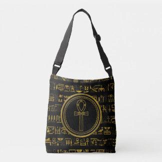 Bolsa Ajustável Símbolo transversal de Ankh do egípcio do ouro