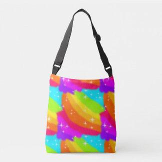 Bolsa Ajustável Sparkles brilhantes do arco-íris de néon brilhante