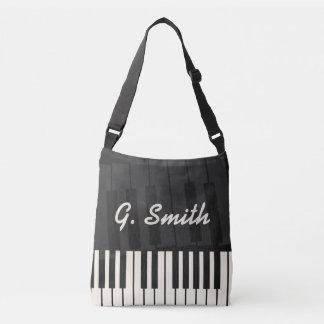 Bolsa Ajustável Teclado de piano preto e branco feito sob