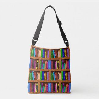 Bolsa Ajustável Teste padrão da estante da biblioteca dos livros
