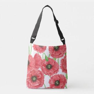 Bolsa Ajustável Teste padrão floral das papoilas da aguarela