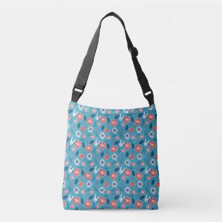 Bolsa Ajustável Teste padrão floral de Kawaii Usagi