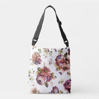 Bolsa Ajustável Teste padrão floral do vintage toda sobre -