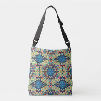 Bolsa Ajustável Teste padrão floral étnico abstrato colorido de da