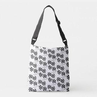 Bolsa Ajustável Teste padrão floral monocromático