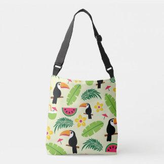 Bolsa Ajustável Teste padrão tropical do verão de Toucan