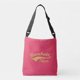 Bolsa Ajustável Texto da mamã do basebol do ouro