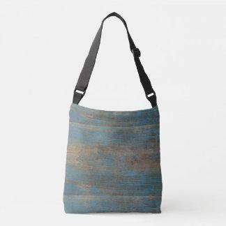 Bolsa Ajustável Textura azul da madeira da praia