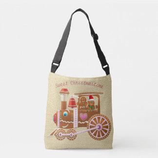 Bolsa Ajustável Trem bonito do Xmas do pão-de-espécie e desenhos