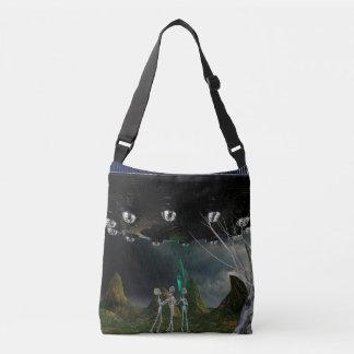 Bolsa Ajustável Três aliens e uma sacola do UFO