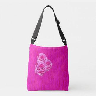 Bolsa Ajustável Três rosas cor-de-rosa no rosa,