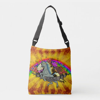 Bolsa Ajustável Unicórnio, arco-íris & bacon impressionantes da
