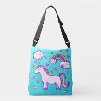 Bolsa Ajustável Unicórnio bonito com um arco-íris