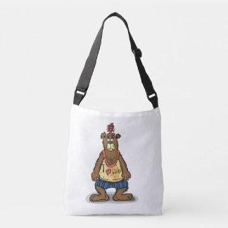 Bolsa Ajustável Urso de Brown dos desenhos animados que está em