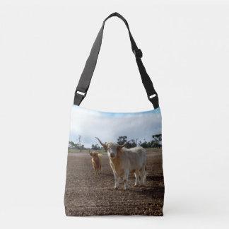 Bolsa Ajustável Vacas impertinentes das montanhas, saco unisex de