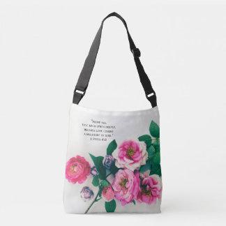 Bolsa Ajustável Verso cor-de-rosa selvagem cor-de-rosa da bíblia