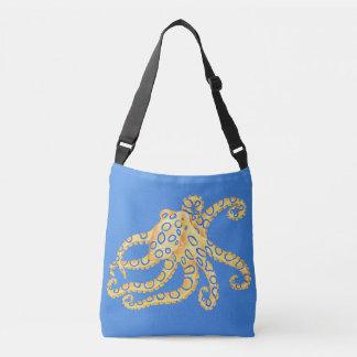 Bolsa Ajustável Vitral azul do polvo