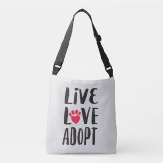 Bolsa Ajustável Vivo. Amor. Adote a adopção do animal de estimação