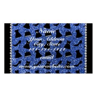Bolsa azul conhecida feita sob encomenda do cartão de visita