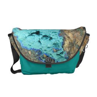 Bolsa Carteiro A bolsa mensageiro--Azurite & malaquite