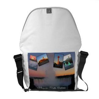 Bolsa Carteiro Colagem da foto de Niagara Falls