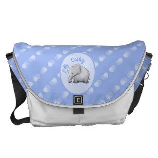 Bolsa Carteiro Elefantes novos lunáticos personalizados dos