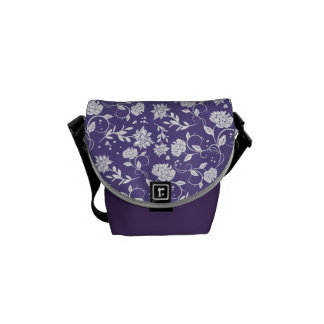 Bolsa Carteiro Flor ultravioleta do jardim da poesia