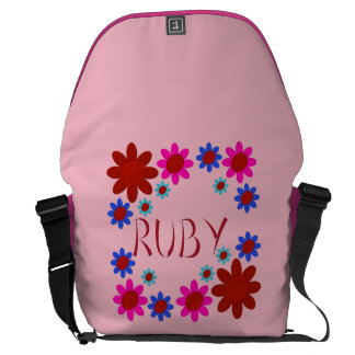 Bolsa Carteiro Flores do RUBI