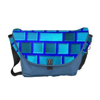 Bolsa Carteiro Tijolos azuis