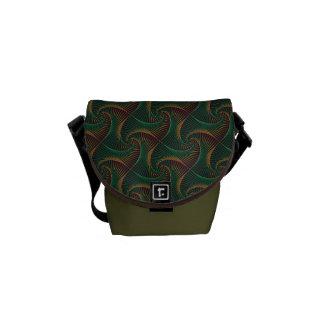 Bolsa Carteiro Torcido - verde e vermelho