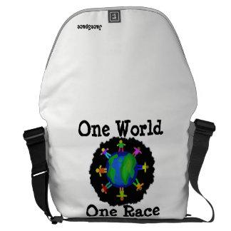 Bolsa Carteiro Um mundo, uma raça