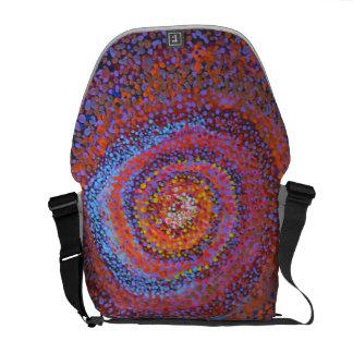 Bolsa Carteiro Um vortex espiral - saco abstrato