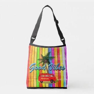 Bolsa das impressões do nome do arco-íris de Praia