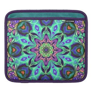 Bolsa De iPad Abstrato da mandala de turquesa