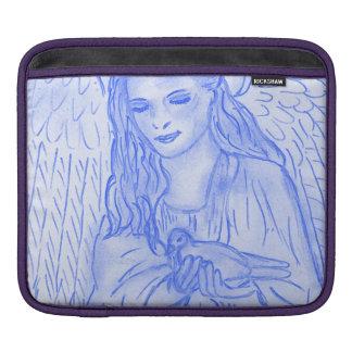 Bolsa De iPad Anjo calmo no azul