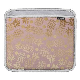 Bolsa De iPad bolinhas elegantes do teste padrão do abacaxi do