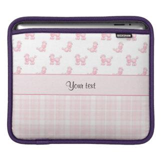 Bolsa De iPad Caniches & verificações cor-de-rosa do rosa