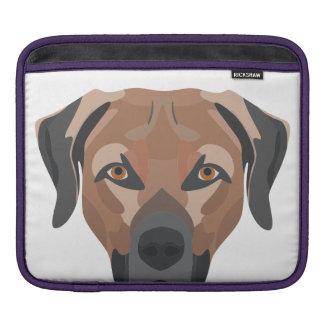Bolsa De iPad Cão Brown Labrador da ilustração